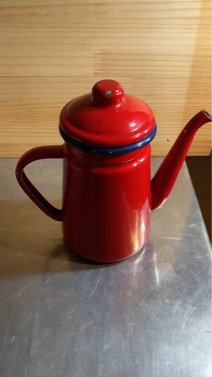 赤いポット 1.2L ストーブ コーヒーポット ノーブランド ホーローポット