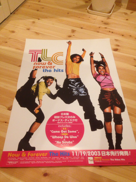 【レア品】 TLC now&forever the hits ポスター 洋楽 R&B