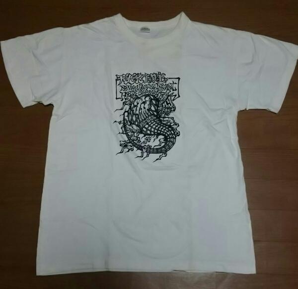 H:G Fact[FUCK I.D.E.]Tシャツ 白 L 1990年代 USED HG FACT ライブグッズの画像