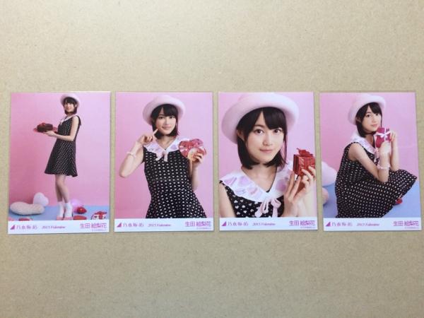 乃木坂46 生写真 2015 バレンタイン 4種 生田絵梨花