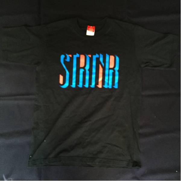 ストレイテナー Tシャツ youthL STRAIGHTENER バンド ロゴ 黒 星