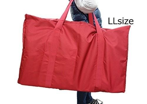超特大 150L 防水 ボストンバッグ 特製ワッペン付き (赤, LL)