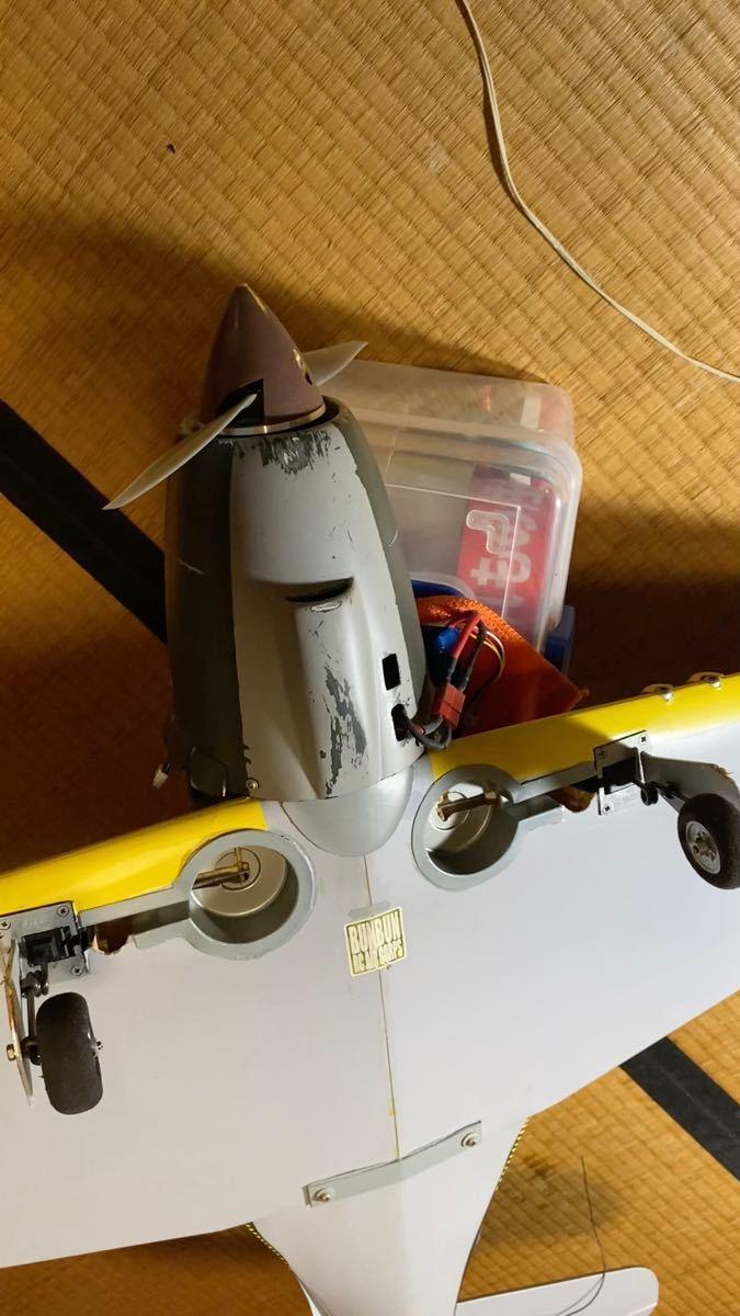 ヒロボー 雷電25EP 電動RC飛行機 スケールアップ ウェザリング 引込足付/メカ付き 全動作確認済