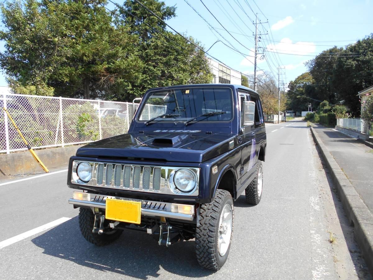 「JA11V  ジムニー インタークーラーターボ リフトアップ 4WD  車検5年9月まで エアコン/パワステ 現車確認/下取り/直接引き取り可 」の画像1