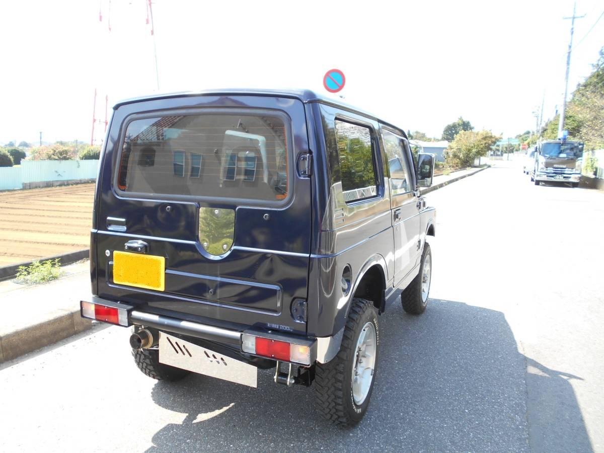 「JA11V  ジムニー インタークーラーターボ リフトアップ 4WD  車検5年9月まで エアコン/パワステ 現車確認/下取り/直接引き取り可 」の画像3