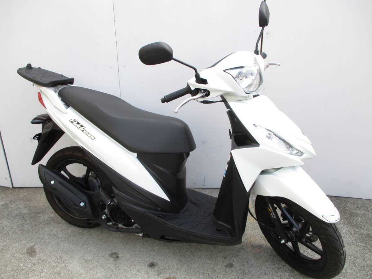「低走行540km スズキ SUZUKI アドレス110 ブリリアントホワイト 2BJ-CE47A 2019年モデル ワンオーナー 東京 」の画像1
