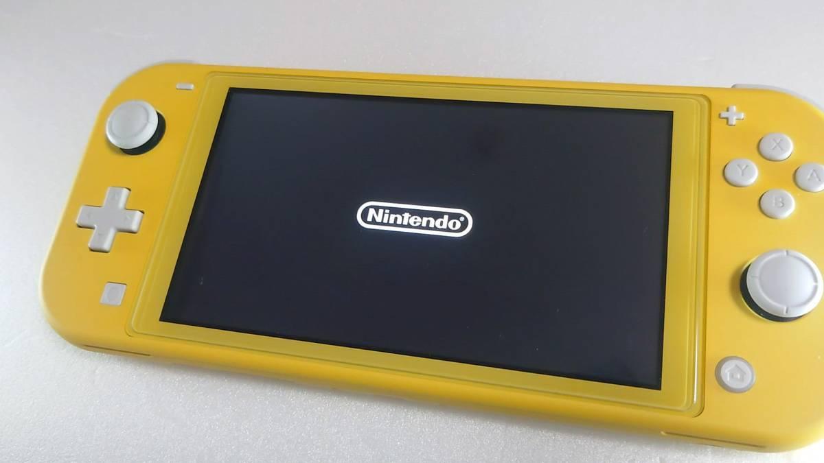 ★任天堂 Nintendo Switch Lite イエロー 本体 + ハードカバー、ガラスフィルム、本体2023年まで保証あり