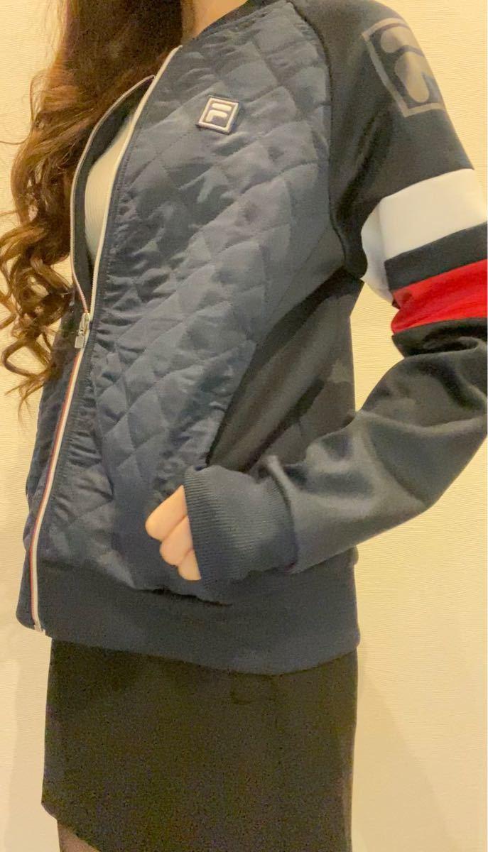 FILA フィラ キルティングジャケット*ジャージ 吸汗・速乾・UVカット ネイビー・M 新品