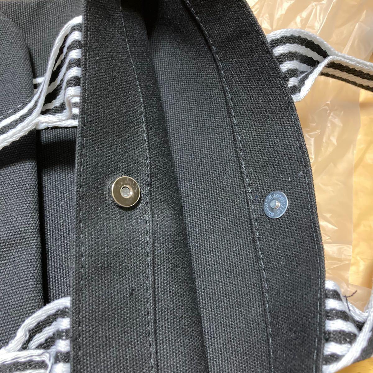 トートバッグ ミニトート リボン サブトートバッグ キャンバス ランチバッグ 黒