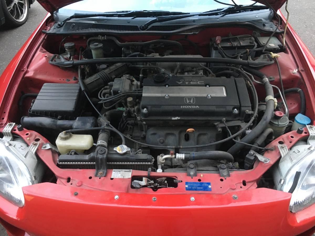 CR-X デルソル ホンダ SiR 型式E-EG2 エンジンB16A型:170PS/7,800rpm  1.6L DOHC VTEC H5年10月 1993年 登録_ディーラーで必ず[綺麗ですね!]と言われる