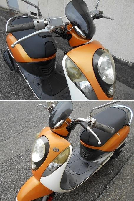 「SYM UMI100 実動(原付二種 100ccスクーター 4サイクル キャブ車 RFGHU10W75S000***」の画像3