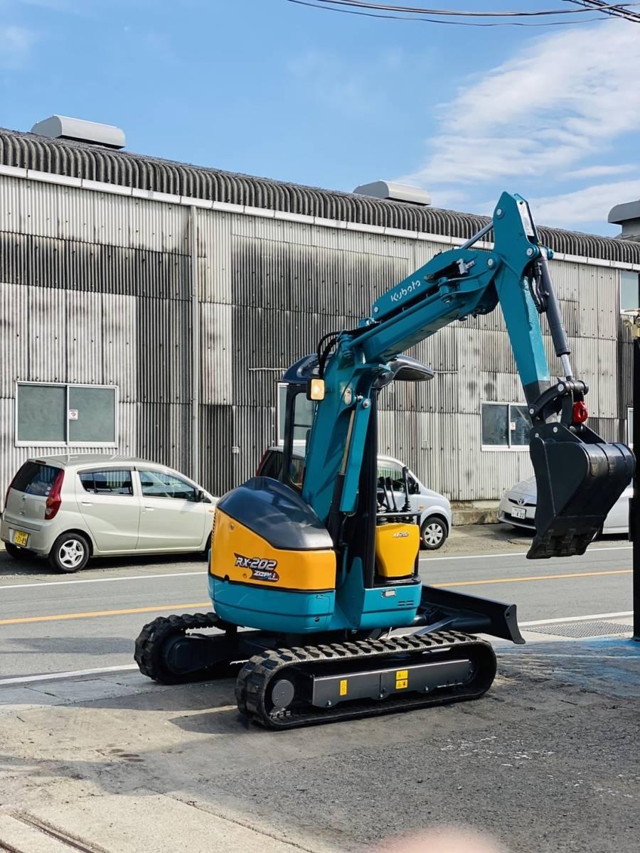 「クボタ ミニユンボ RX-202  1642時間  ゴムキャタ新品  オフセットブーム 取り扱い説明書あり 2トンクラス 全国陸送可 下取OK 」の画像3