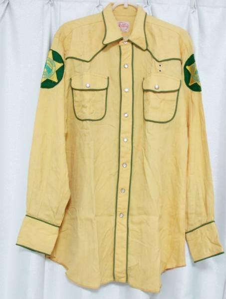 USA50'sヴィンテージDellSmithカントリーシャツdeputy sheriff_画像1