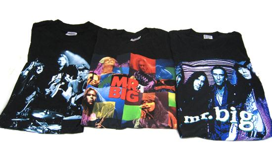 ◎MR.BIG TシャツL 3枚セット 黒 /長袖半袖 ツアーT ロックT