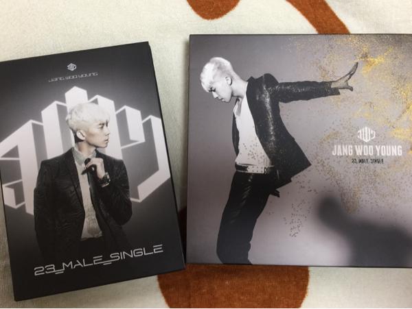 ウヨン 2PM 「23,MALE,SINGLE」ゴールド.シルバーセット