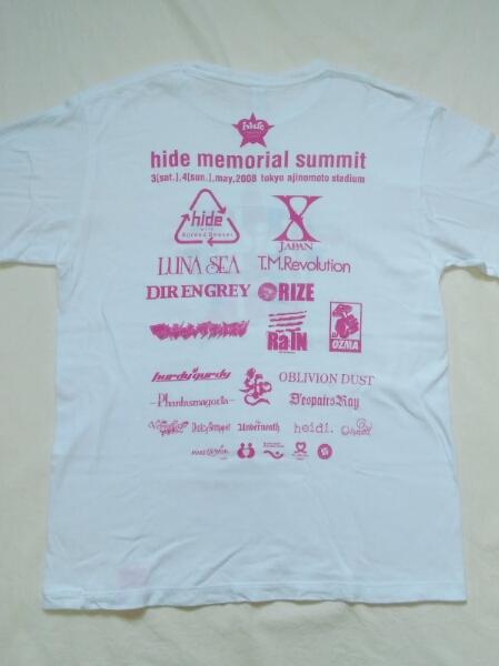 美品 hideメモリアルサミット Tシャツ バンド X JAPAN LUNA SEA YOSHIKI タオル グッズ