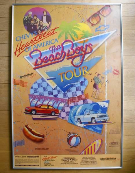 レア!Beach Boys ビーチ・ボーイズ 1988年 オリジナル ポスター