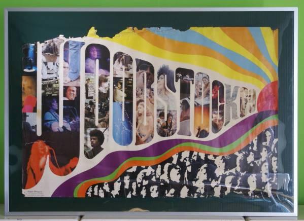 ビンテージ WOODSTOCK 1969年オリジナル 大判ポスター 額装も 難