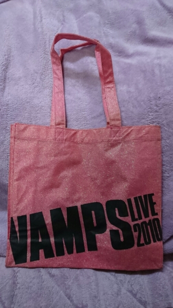 VAMPS LIVE 2010トートバッグ 新品 ピンク HYDE K.A.Z