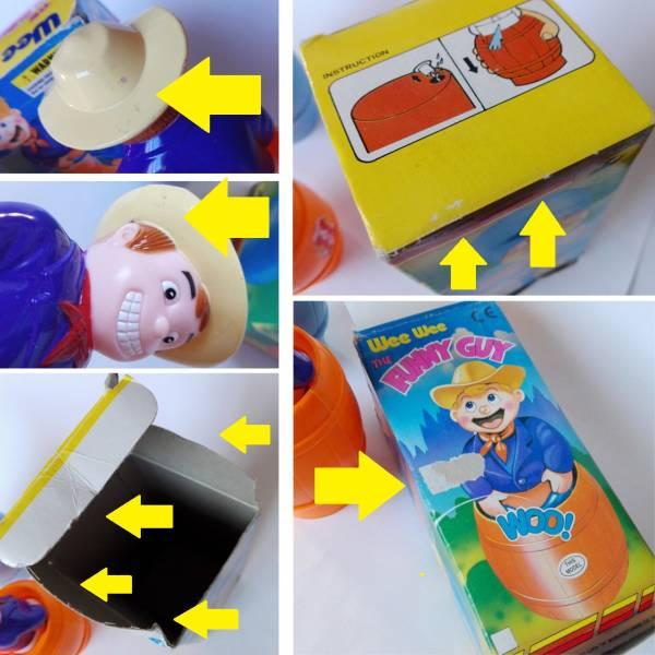 WEEWEE THE FUNNY GUY 水鉄砲 ファニーガイ 2種セット 古い おもちゃ ユニーク ネタ おもしろグッズ 警察官 カウボーイ 送料無料_画像3