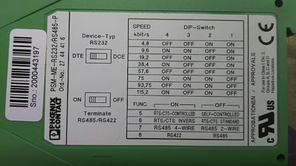 T67-2 PHOENIXCONTACT PSM-MS-RS232 新品保管品_画像2