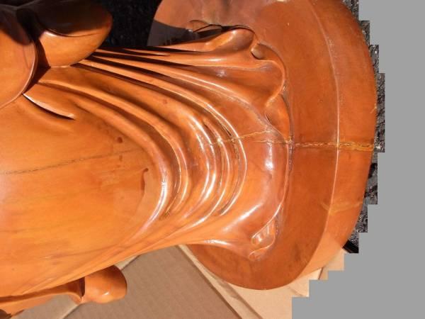 木彫 布袋様 七福神 置物 縁起物 古美術品 飾り 開運 ほてい_画像3