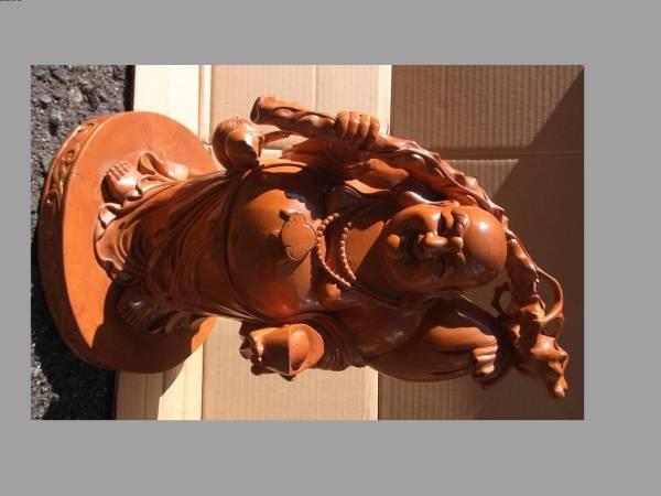 木彫 布袋様 七福神 置物 縁起物 古美術品 飾り 開運 ほてい_画像1