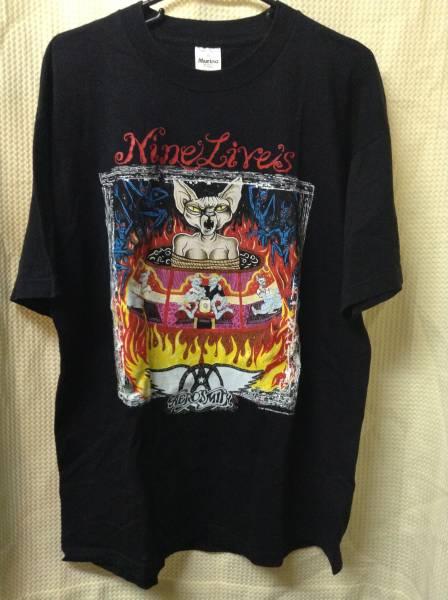 11 バンドTシャツ エアロスミス ナインライブスツアー (XL)