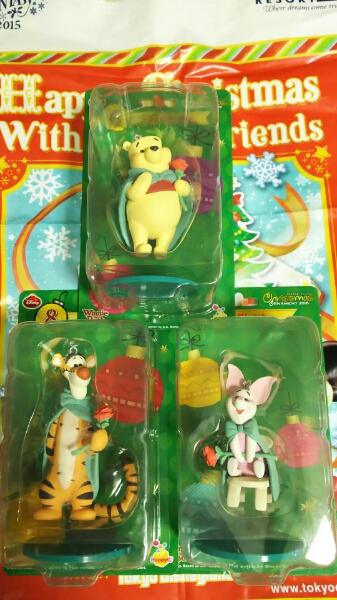 ディズニー happyくじ オーナメント くまのプーさん 3種類セット ディズニーグッズの画像