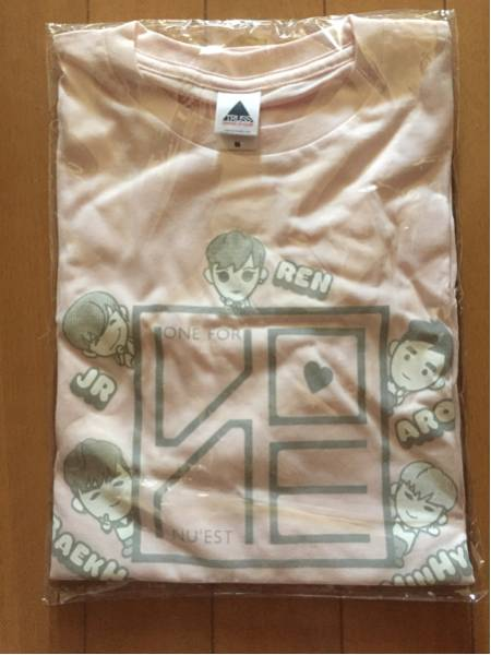 NU'EST*ONE FOR LOVE*Tシャツ*キャラクター*新品未開封!M