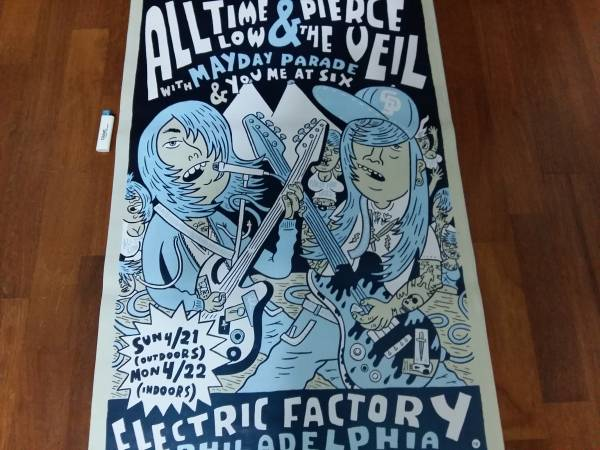 送料290●89cm ポスター Pierce The Veil All Time Low ロック