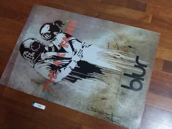 送料290●89cmポスター Blur ブラー イギリス ロック バンドa