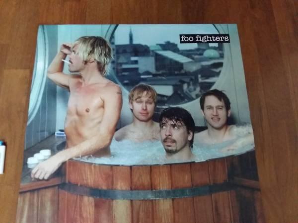 送料290●新品 89cm ポスター フーファイターズ Nirvana foo