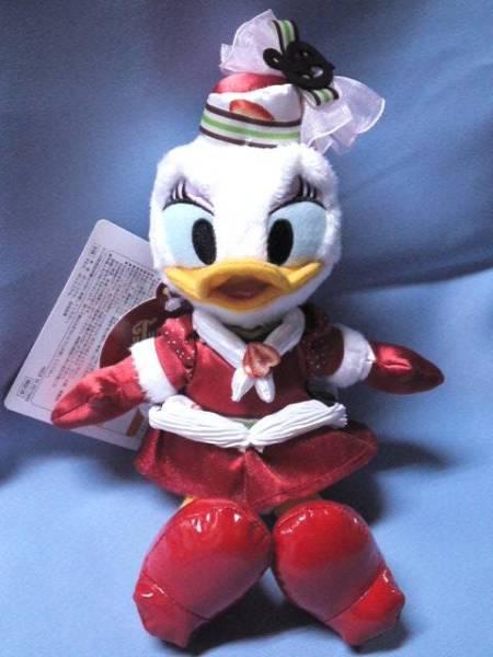 ★ディズニーシー テーブル・イズ・ウェイティング・クリスマスキュイジーヌ ぬいぐるみバッジ デイジー★ ディズニーグッズの画像