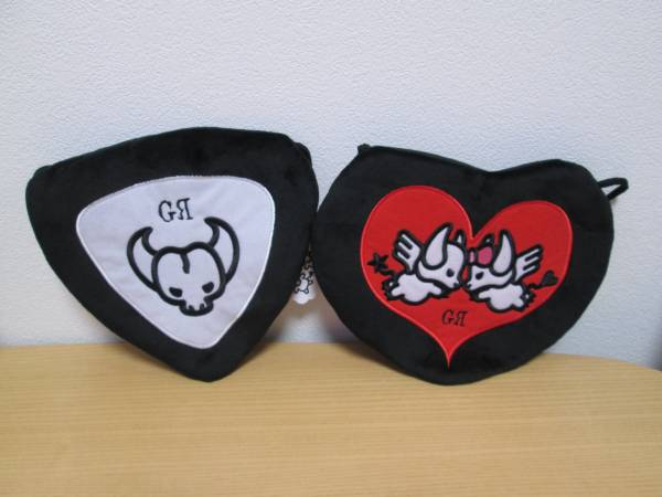 GRANRODEO ロジャー&ジーナ 刺繍フラットポーチ 2種セット