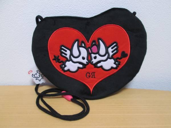 GRANRODEO ロジャー&ジーナ 刺繍フラットポーチ 黒&赤