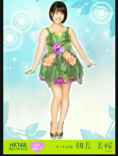 HKT48栄光のラビリンス第11弾ミニポス生写真 朝長美桜 レア ライブグッズの画像