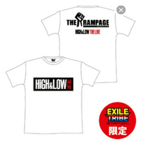 THE RAMPAGE HiGH&LOW BIG TEE シャツ Tシャツ