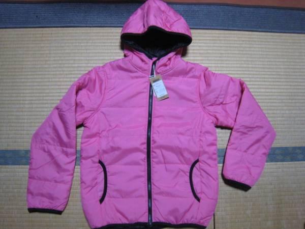 32-32新品★SHISKY ピンク 長袖フード付 アウター 160サイズ_画像1