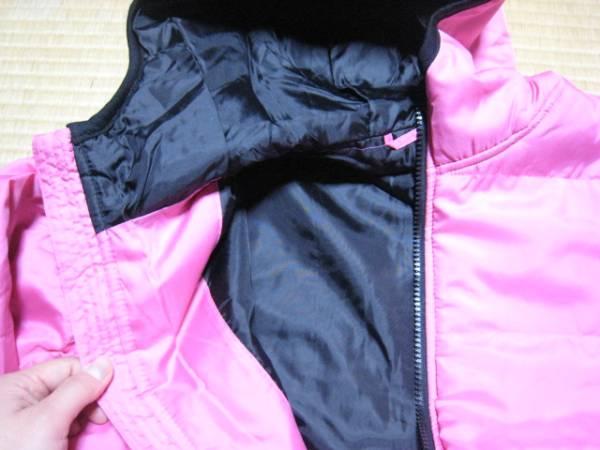 32-32新品★SHISKY ピンク 長袖フード付 アウター 160サイズ_画像3