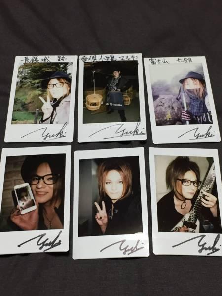 ギタリストYUKI(DUSTAR-3、Rayflower)チェキ6枚セット2