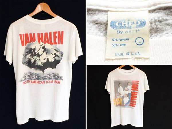 ビンテージ 80s Anvil VAN HALEN バンドT ロック Tシャツ L / 70