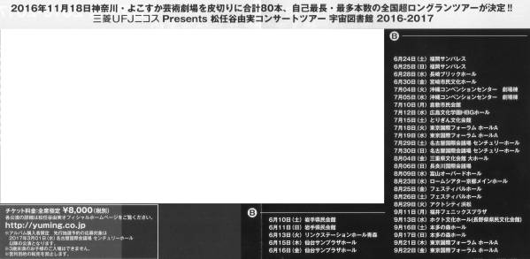 松任谷由実 宇宙図書館 購入者限定先行抽選予約シリアルナンバー