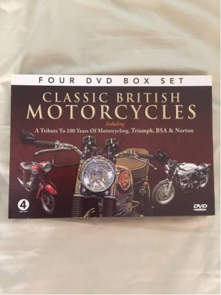 美品 イギリス クラシックバイクDVD 4枚セット -英語- グッズの画像