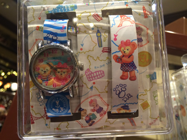 香港ディズニー ダッフィー&シェリーメイ 腕時計