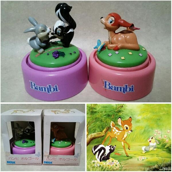 【Bambi/バンビ・オルゴール】とんすけ フラワー フィギュア ディズニーグッズの画像