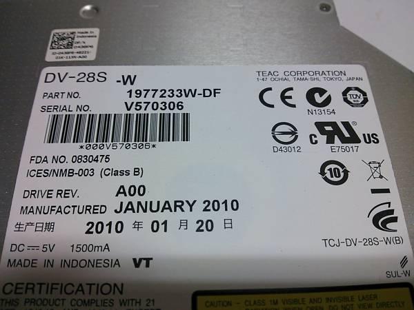 ◇TEAC DV-28S-W DVD-ROM SATA DVDドライブ スリムドライブ DVD-ROMドライブ◆PC整備・動作確認済み_画像2