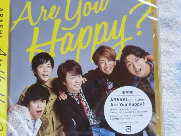 嵐  Are You Happy?  CD  通常盤  未開封