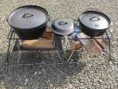 焚き火テーブル ロストル アイアンテーブル ハンドメイド 90㎝