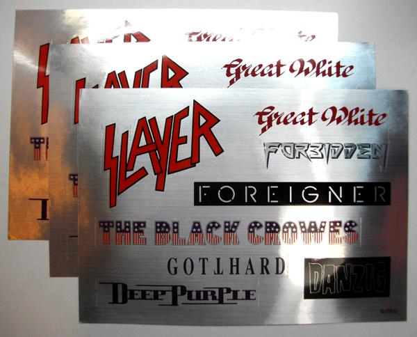 洋楽ステッカー 「SLATER」「Great White」「FORBIDDEN」「FOREIGNER」「THE BLACK CROWES」「GOTTHARD」「DEEP PURPLE」「DANZIG」